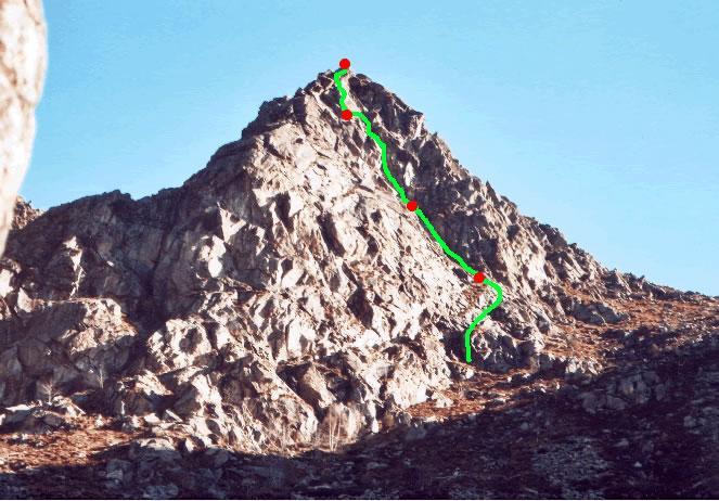 La Rocca di Banti Vista dal sentiero