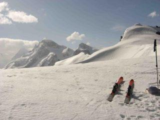 vista sul Breithorn e Piccolo Cervino