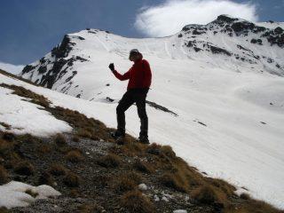 salendo nella parte alta del versante NO della Tete de Longet (23-5-2009)