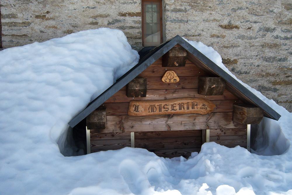 L'entrata del locale invernale