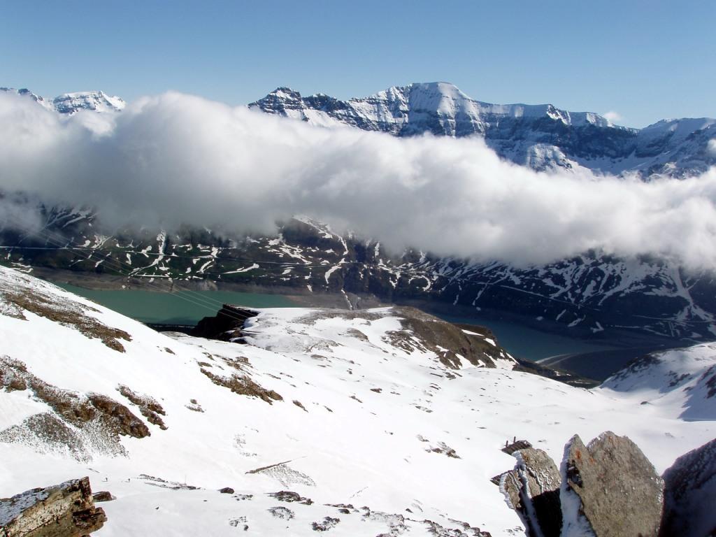 Il lago e la Roncia, finalmente scoperta, dalla punta.