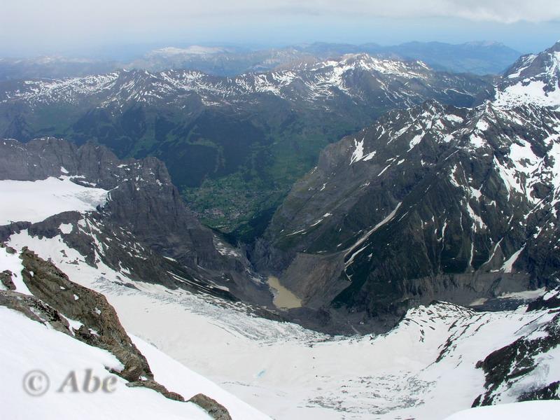 Grindelwald dalla cima del Gross Fiescherhorn