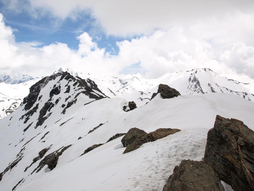 La cresta verso la Punta di Valfredda