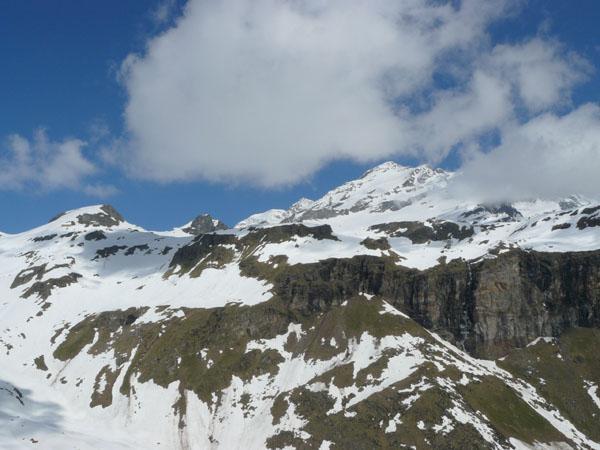 il massiccio del Monte Rosa dal colle