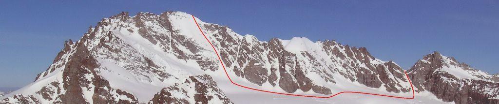Porzione di itinerario lato Cogne - Parete Est  e Gh. dellaTribolazione