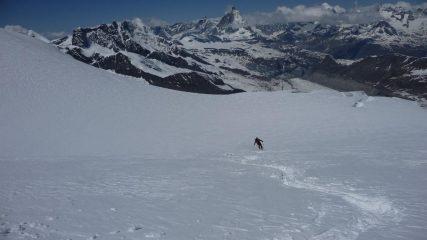 Scendendo.... Matterhorn di fronte a noi