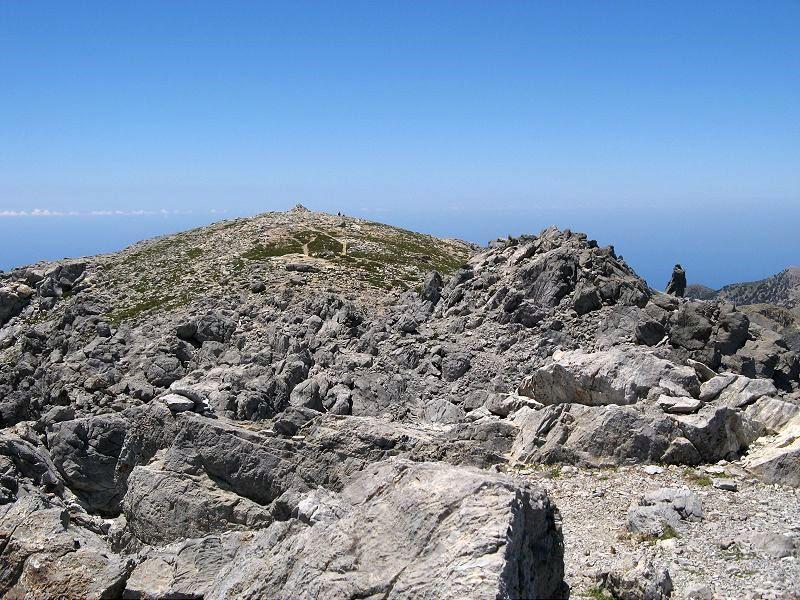 La punta sud vista dalla cima