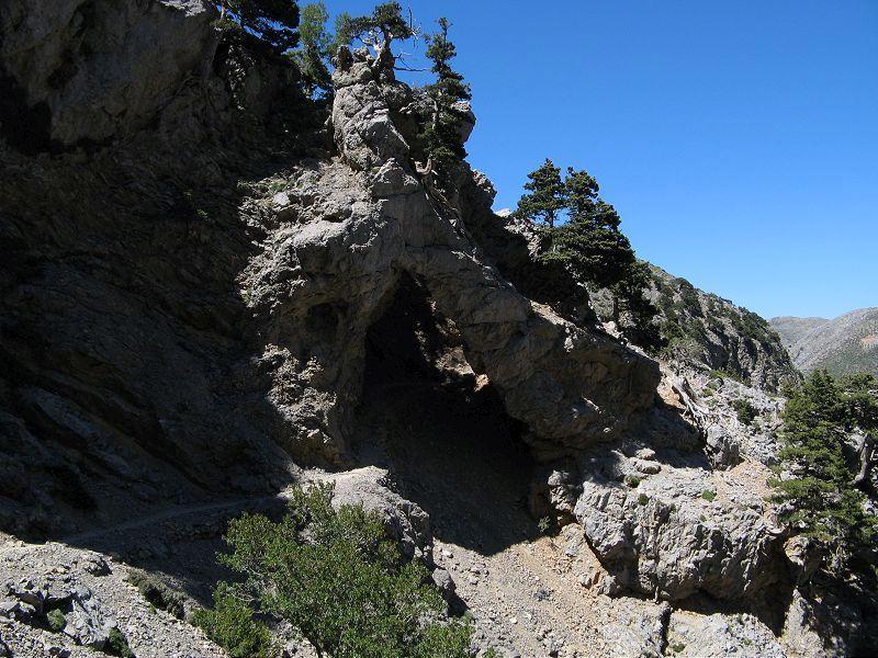 L'arco nella roccia calcarea