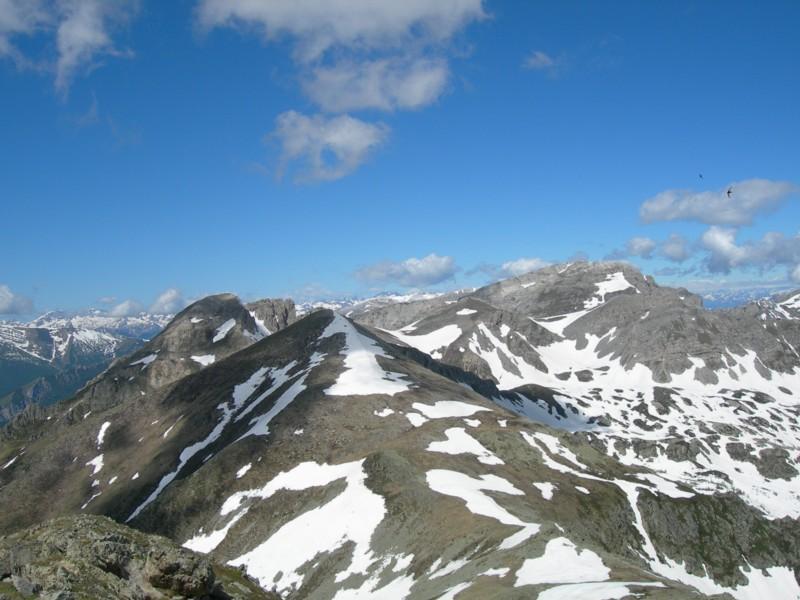 Cima delle Roccate, Bric di Conoja, Monte Rotondo, Cima Revelli e sullo sfondo il Mongioje