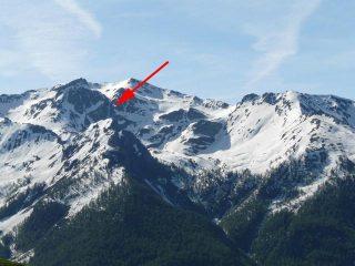 la posizione del canale vista da sopra il gran puy (29-5-09)
