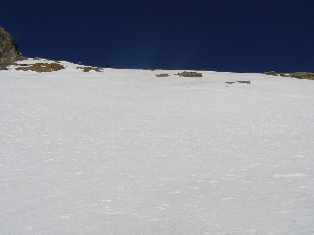 La rampa che dà accesso al ghiacciaio