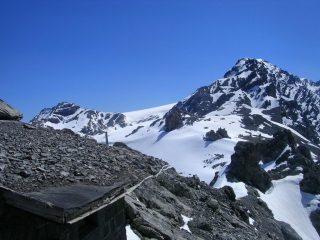 Il bivacco Provolino e il Monte Cristallo