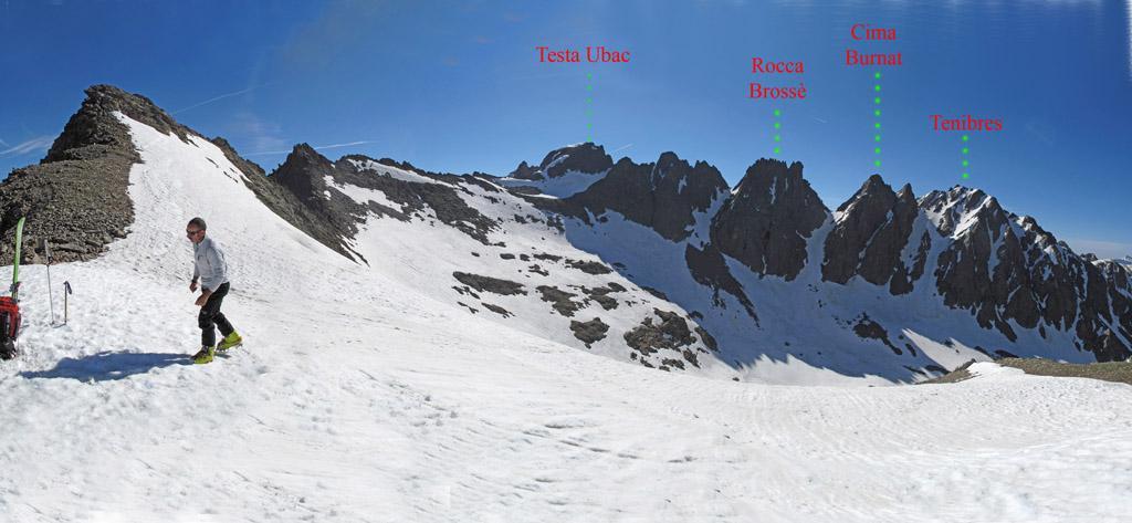 itinerario per la cima dal colle Lausa