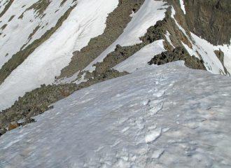 discesa dalla cima