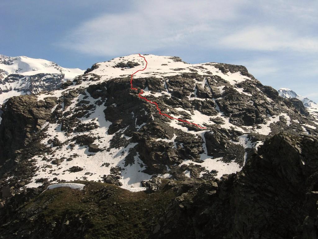 seconda parte del pendio roccioso vista dal Palon