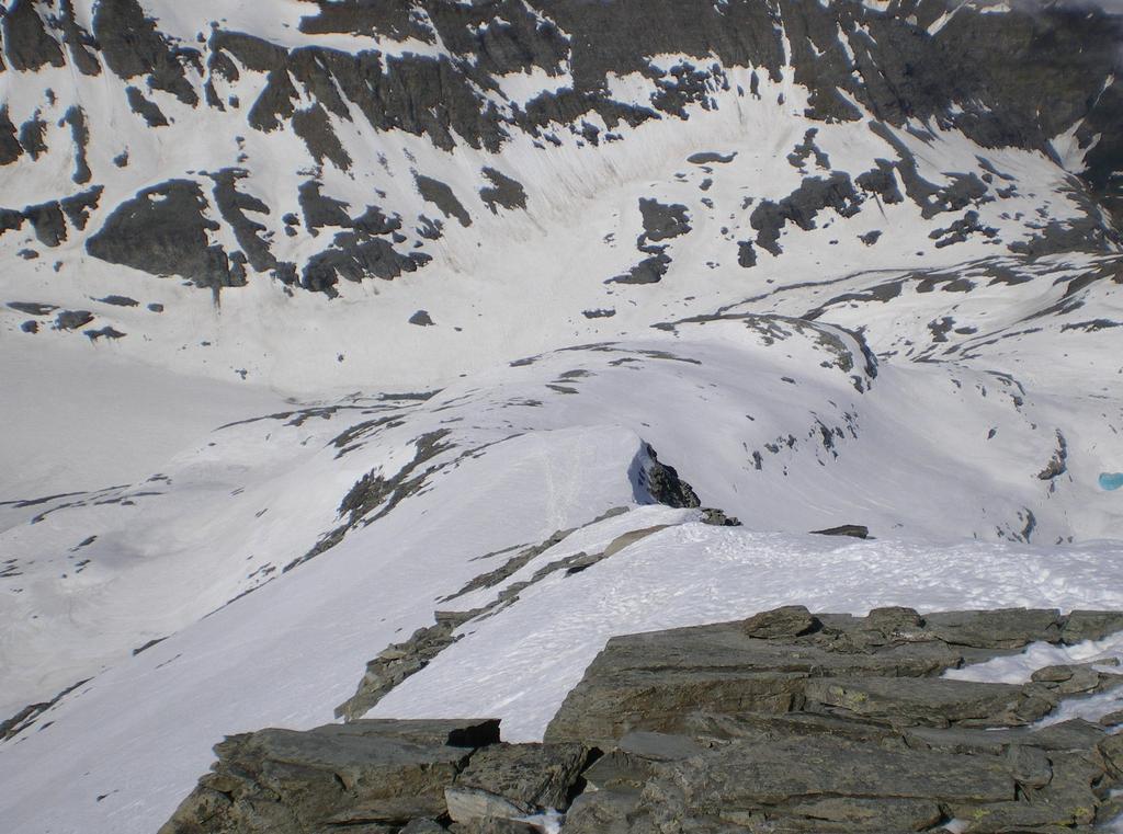 Versante di salita dalla cima