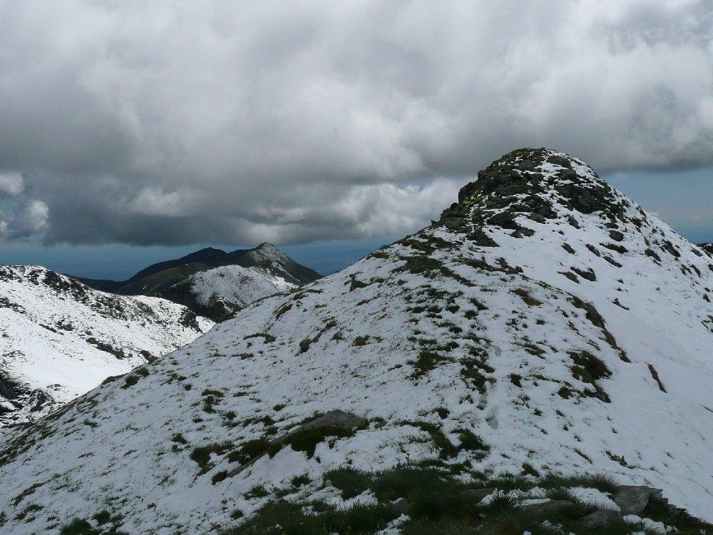 La cima da anticima a Nord.