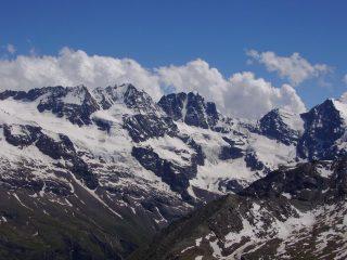 panorama sui Gemelli,nord Roccia Viva ,Becca di Gay testa Gran crou e testa di Valnontey