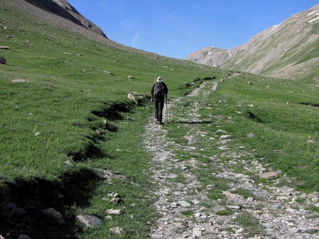 Davide sale lungo il Vallone (24-6-2009)