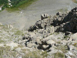 un tratto del passo del Ciat, dall'alto
