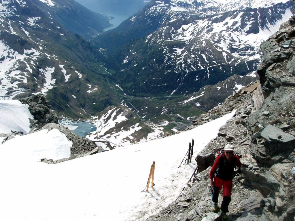 Il fondovalle dagli sci