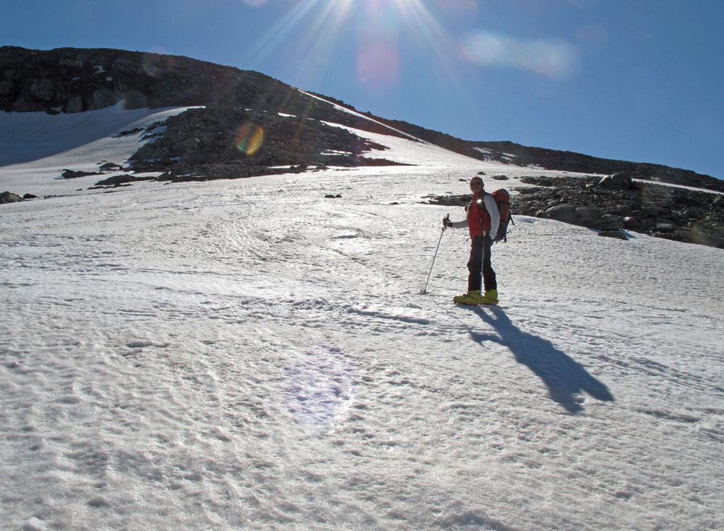 Dal Passo Luisass gli ultimi pendii perfettamente raccordati fino in cima