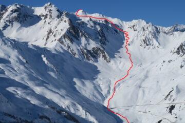 Il percorso di salita   I   Le parcours de la montée   I   The ascent route   I   Die Aufstiegsroute   I   El recorrido de subida
