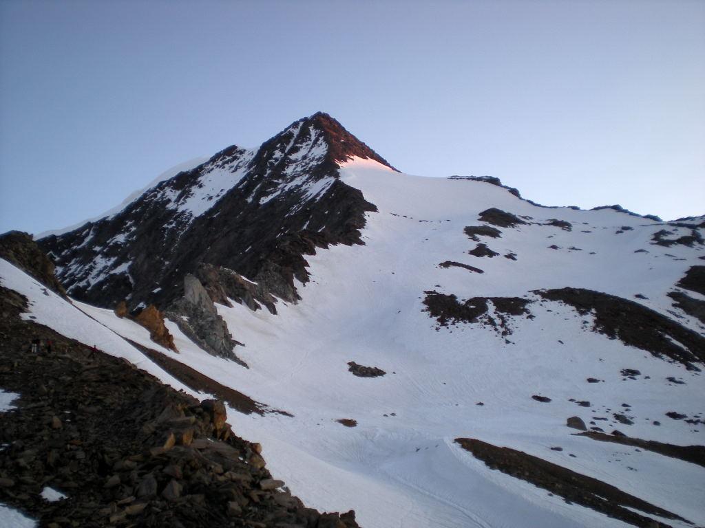 Il versante di salita dal colle 3268m