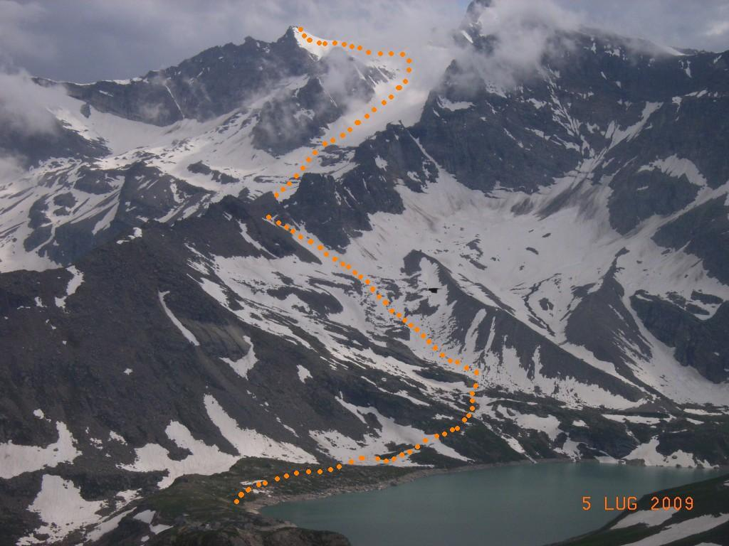 percorso di massima dal Nivolet