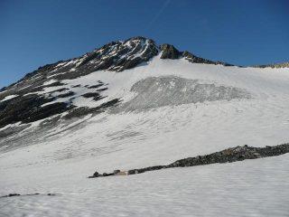 il ghicciaio Lombard e la vetta