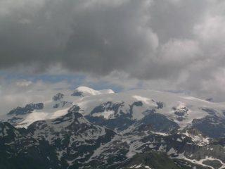 Gobba di Rollin e Breithorn dalla cima