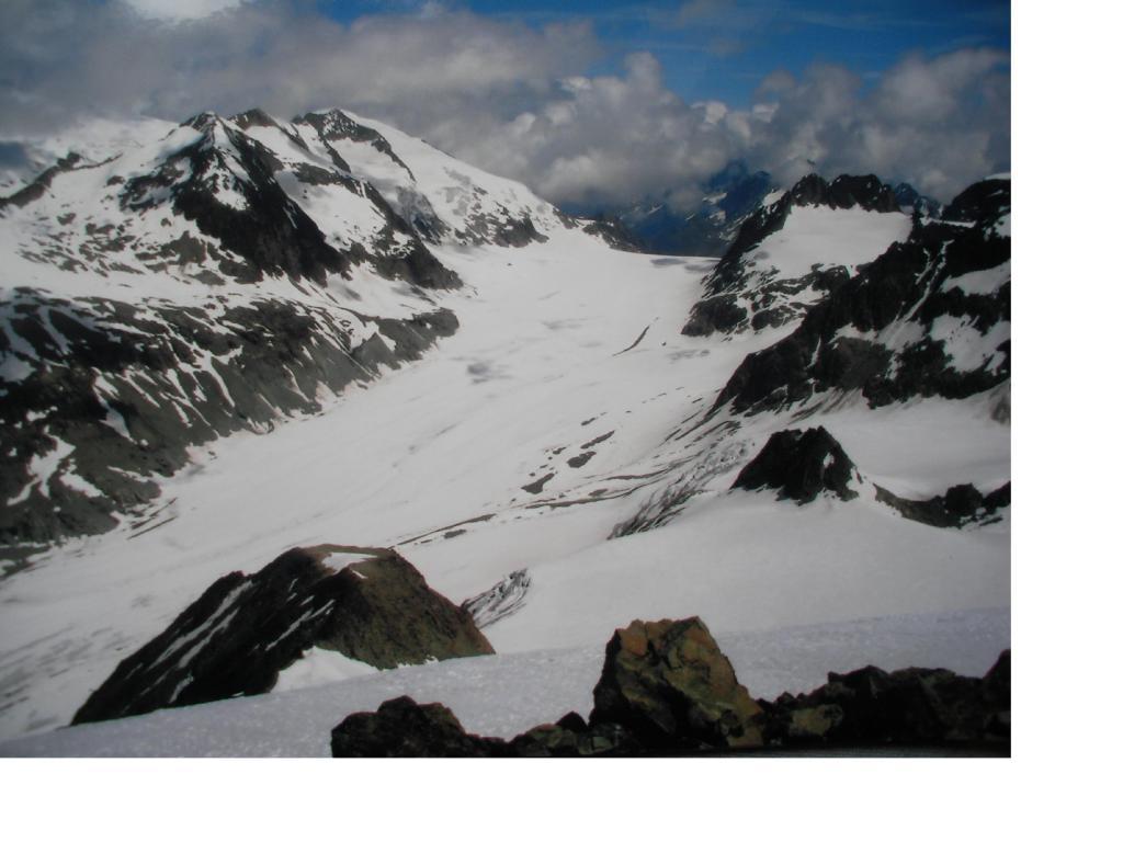 Il Col di Chermontane e la Pigne d'Arolla a sx dall'Ouille Tzeucca
