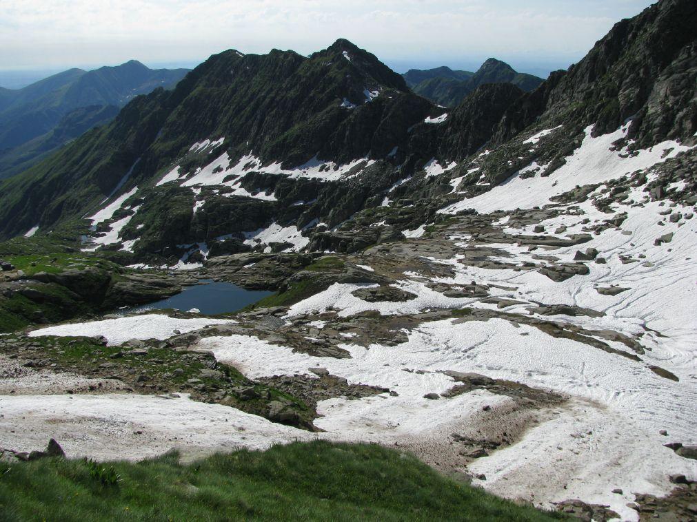 L'alto vallone del Bojret con il lago