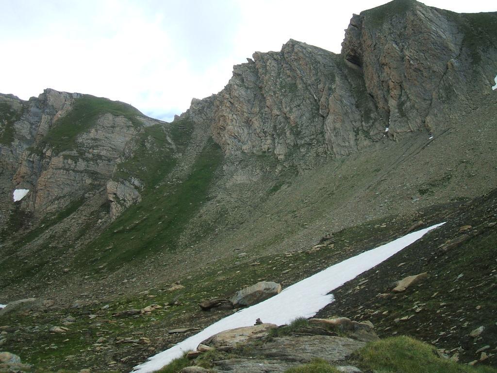 Il Col d'Orgeres, con l'ultimo tratto di sentiero