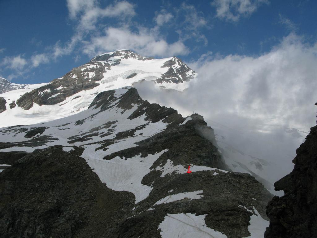 Itinerario di salita -Punto arrivo con sci