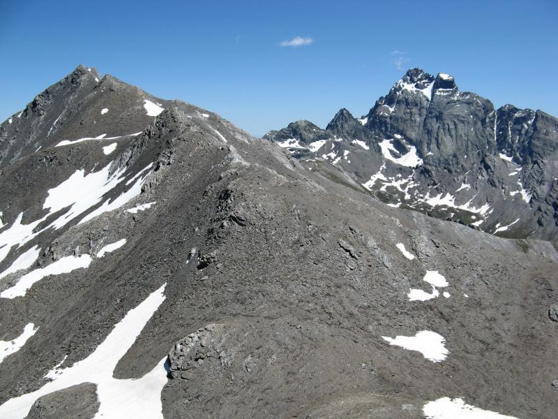 Monte Aiuguillette visto dal Pic Brusalana