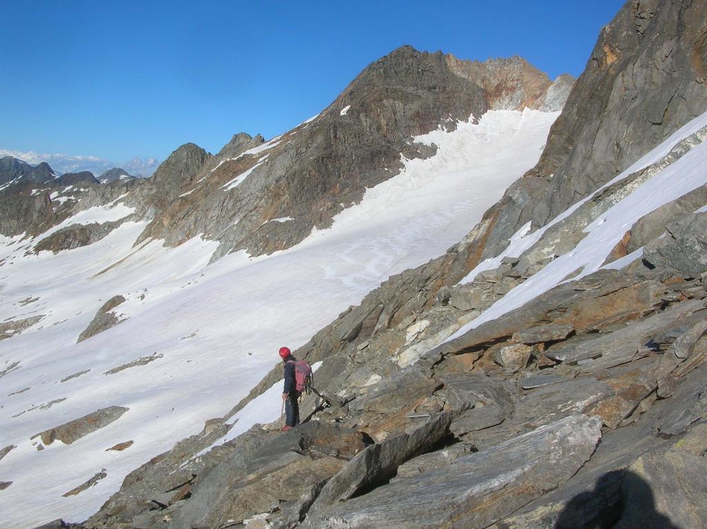 Discesa sul ghiacciaio d'Arolla.
