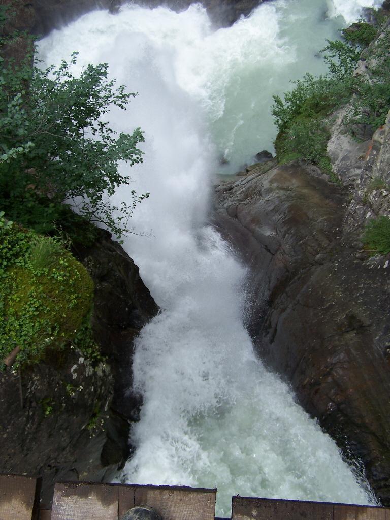 La prima impressionante cascata