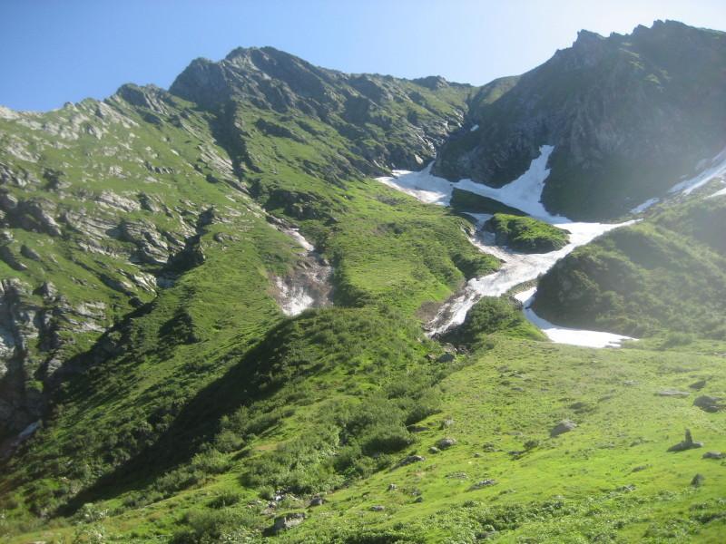 Il Tagliaferro fotografato sopra l'alpe Campo