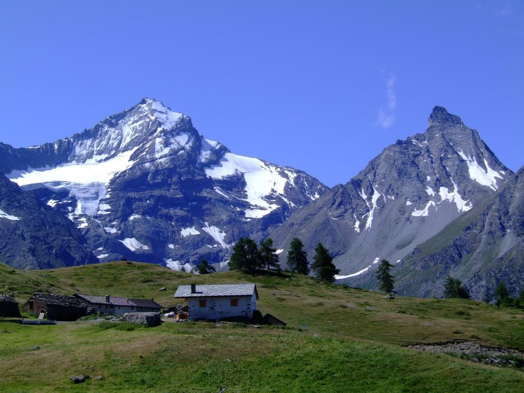 Grivola e Grand Nomenon con in primo piano l'alpe la Pierre
