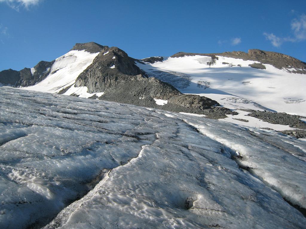 Aiguille Rousse dal ghiacciaio Sources de Isere