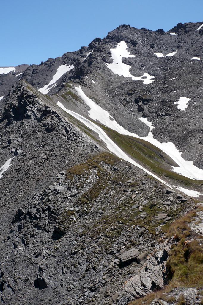 Parte della cresta di salita dal Colle d'Almiane
