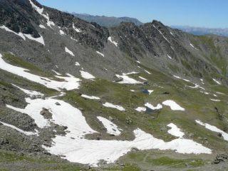 la conca del Lago verde...neve anche qui!