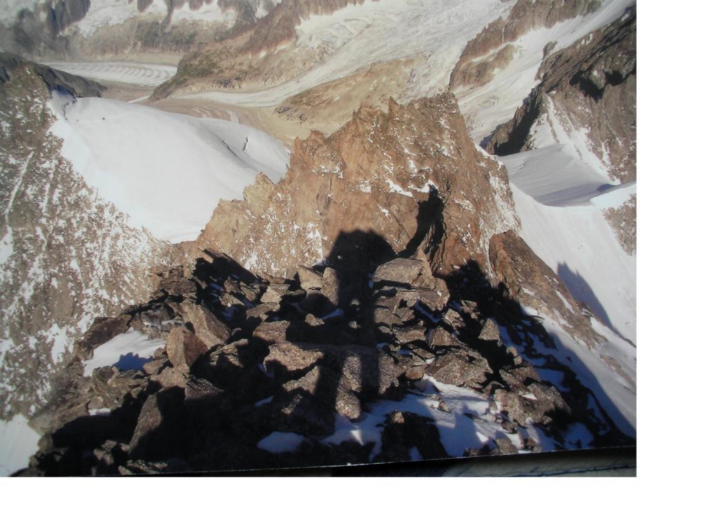 Dall'Aig du Triolet si vede la P.Isabella in alto a sx.