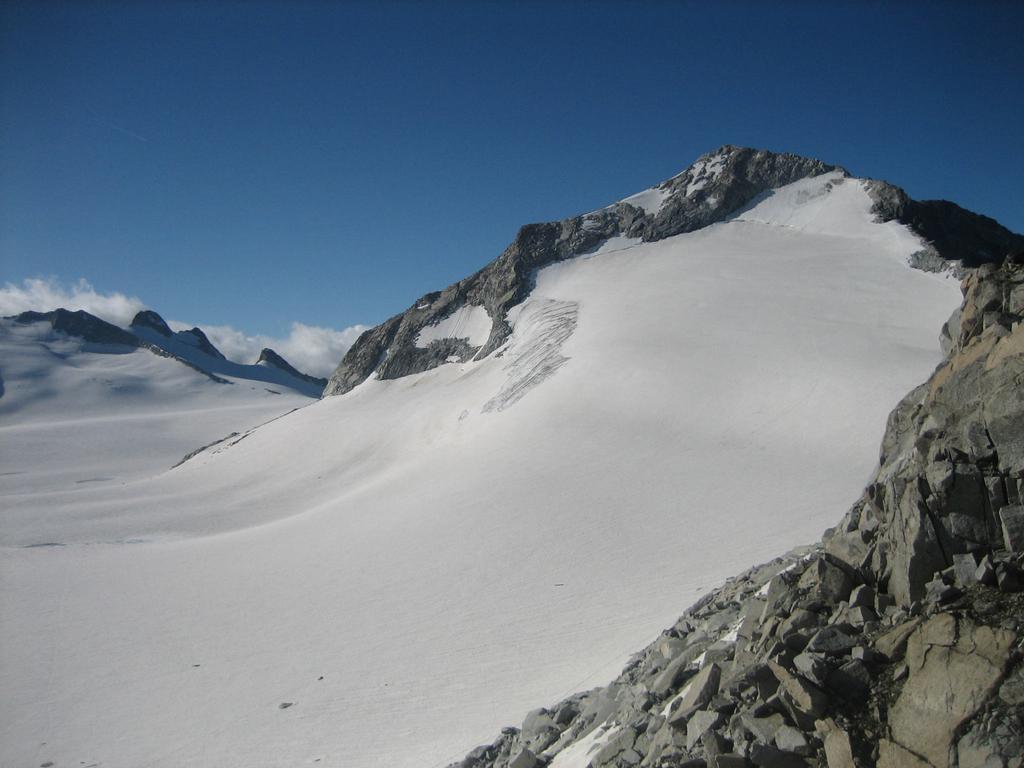 Il ghiacciaio verso il Corno Bianco