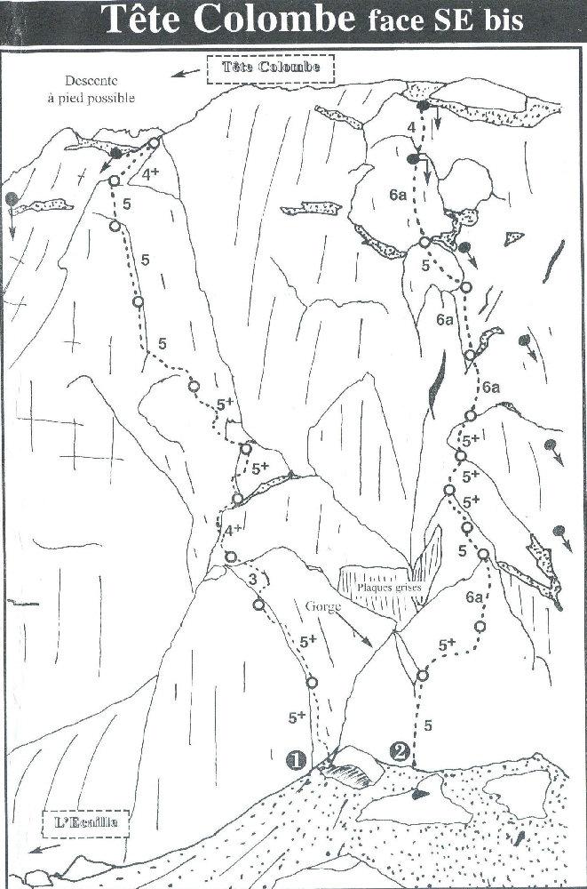 L'itinerario della via (quella a sx, la n.1)