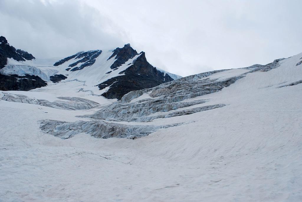 condizioni del ghiacciaio di Laveciau