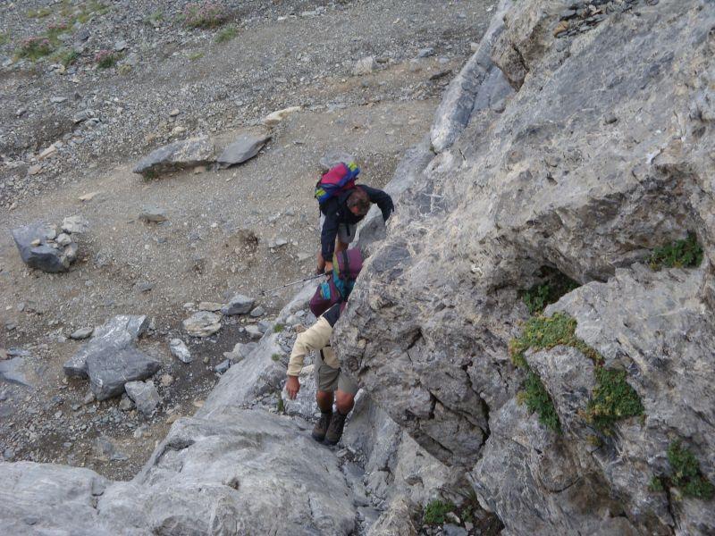 una delle molteplici faglie rocciose