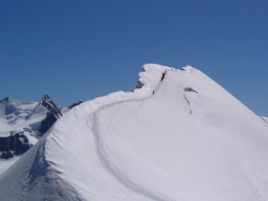 la cresta e la cima del Breithorn Centrale