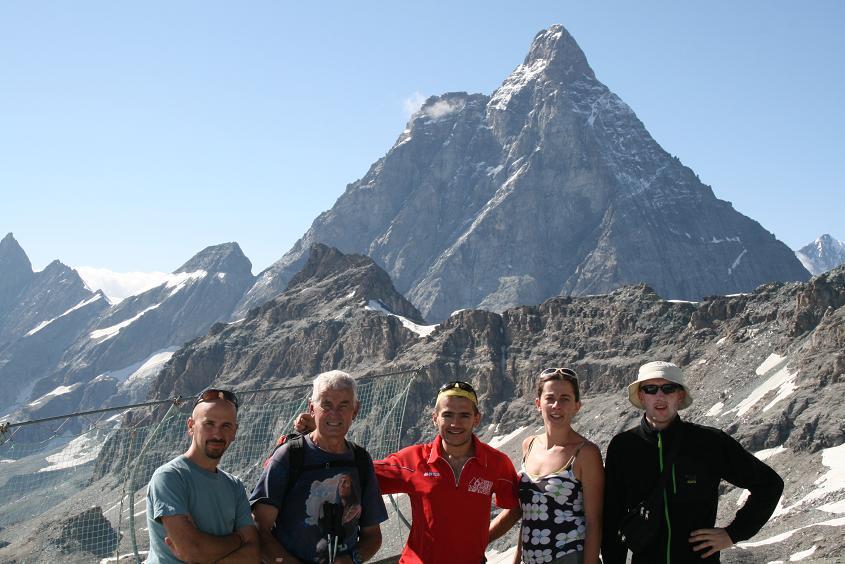 Al Colle del teodulo con la guida alpina Antonio Carrel